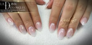 Mariage Ongle Baby Boomer Paillette